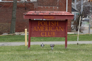Sign for Polish American Club