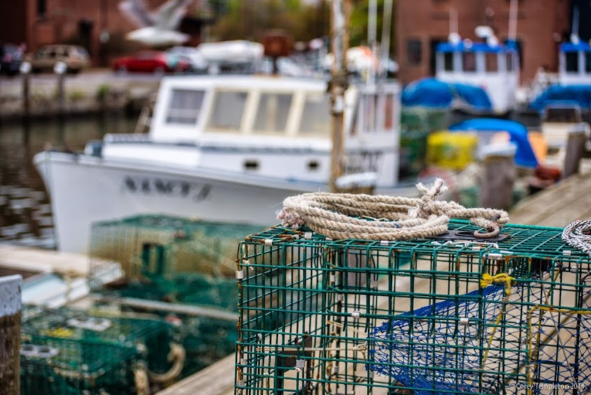 Union Wharf in Portland, Maine Lobster Trap and Rope September 2014 photo by Corey Templeton