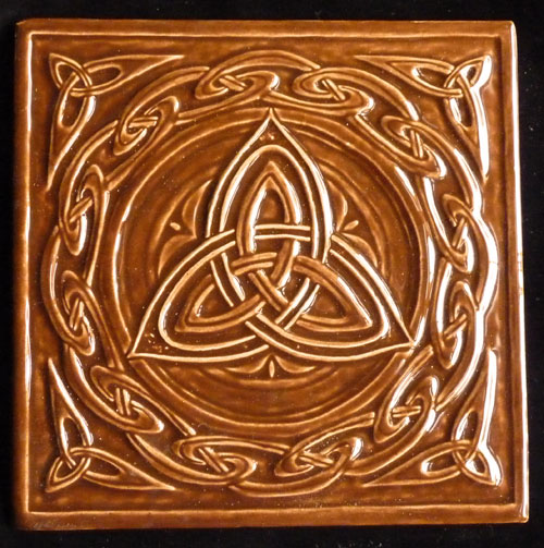 Decorative handmade ceramic tile: Decorative ceramic, handmade, relief ...