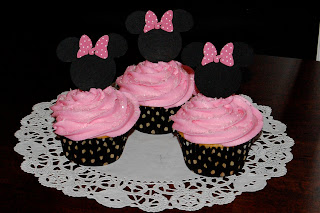 Pink Minnie Mouse Cupcakes