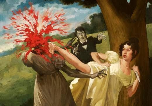 Ilustración de Orgulo y Prejuicio y Zombies