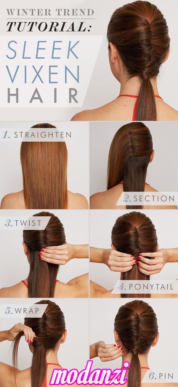 Tilki Kuyruğu Saç Modeli Nasıl Yapılır ? (Resimli Anlatım)