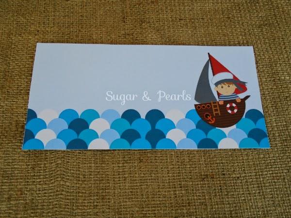Ναυτάκι-προσκλητήριο βάπτισης by Sugar & Pearls
