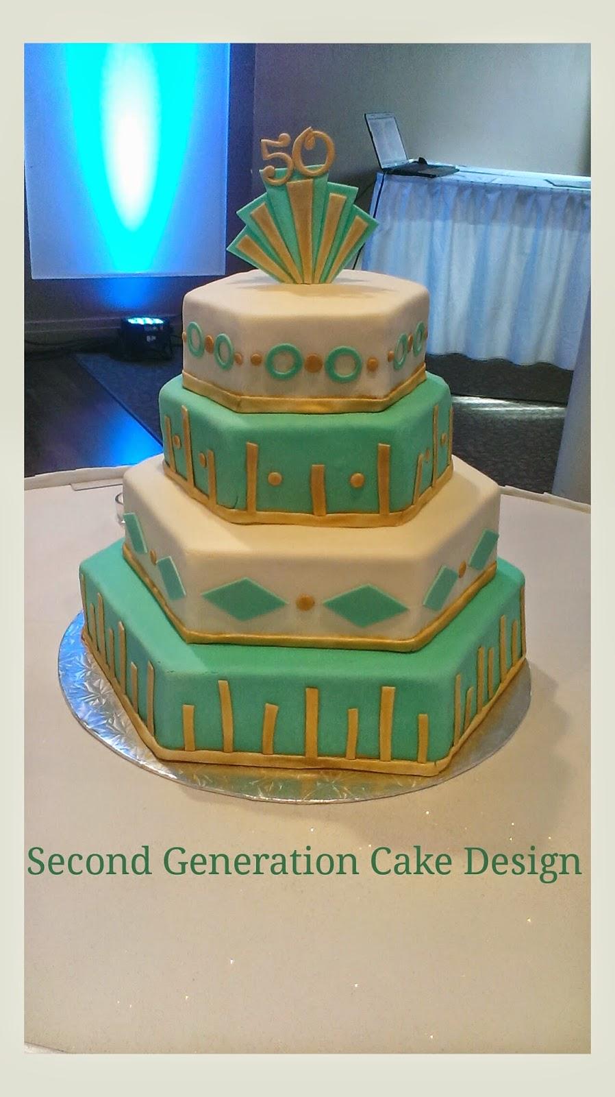 Second Generation Cake Design Art Deco 50th Birthday Cake