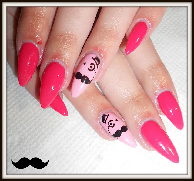 Lola Loves Sparkles: Cute Moustache Nail Art #2 [Step by Step]