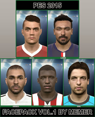 PES 2015 FacePack Vol. 1 By Memer