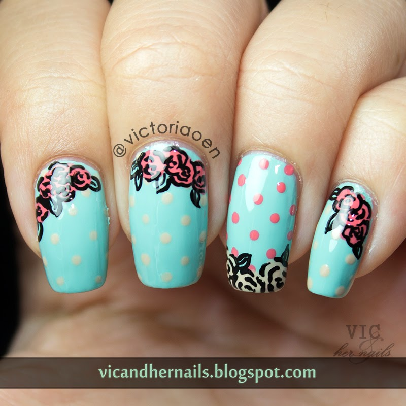Playful Polishes June Nail Art Challenge Ocean Nails: Vic And Her Nails: June Tri-Polish Tuesday Day 3
