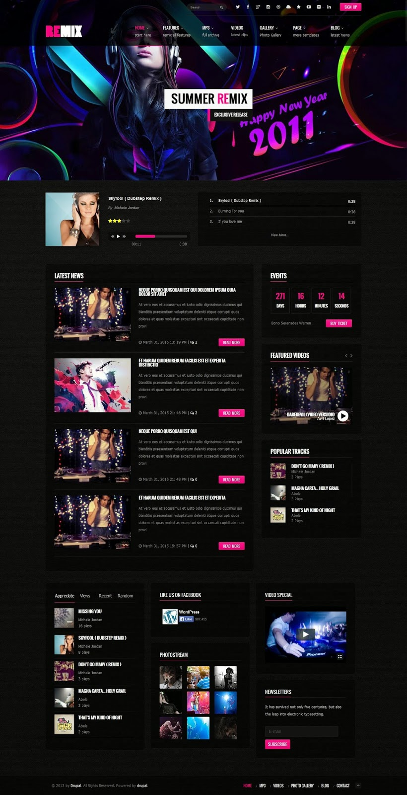 Best Multipurpose Music and Entertainment Template