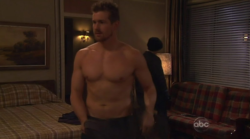 Josh Kelly Shirtless on One Life to Live 20110517