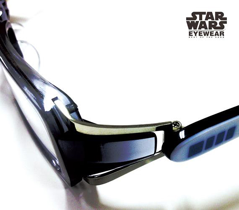 the collection consists of five different styles of eyeglass frames available as reading or sunglasses officially licensed by lucasfilm ltd to
