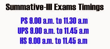 Summative-III Exams Timings from 9am to 11:45 in Telangana