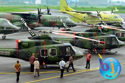 PT. DI Serahkan 6 Heli serbu Bell 412 EP dan 3 Pesawat CN 295