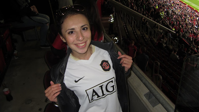 Anotnia in a match of Manchester United