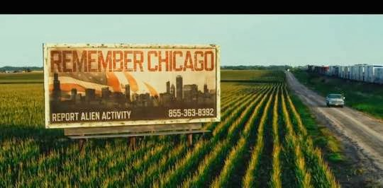 Transformers Age of Extinction billboard, remember chicago