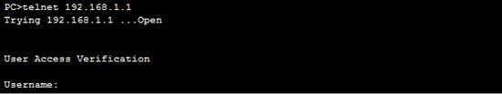 telnet to gateway - 2