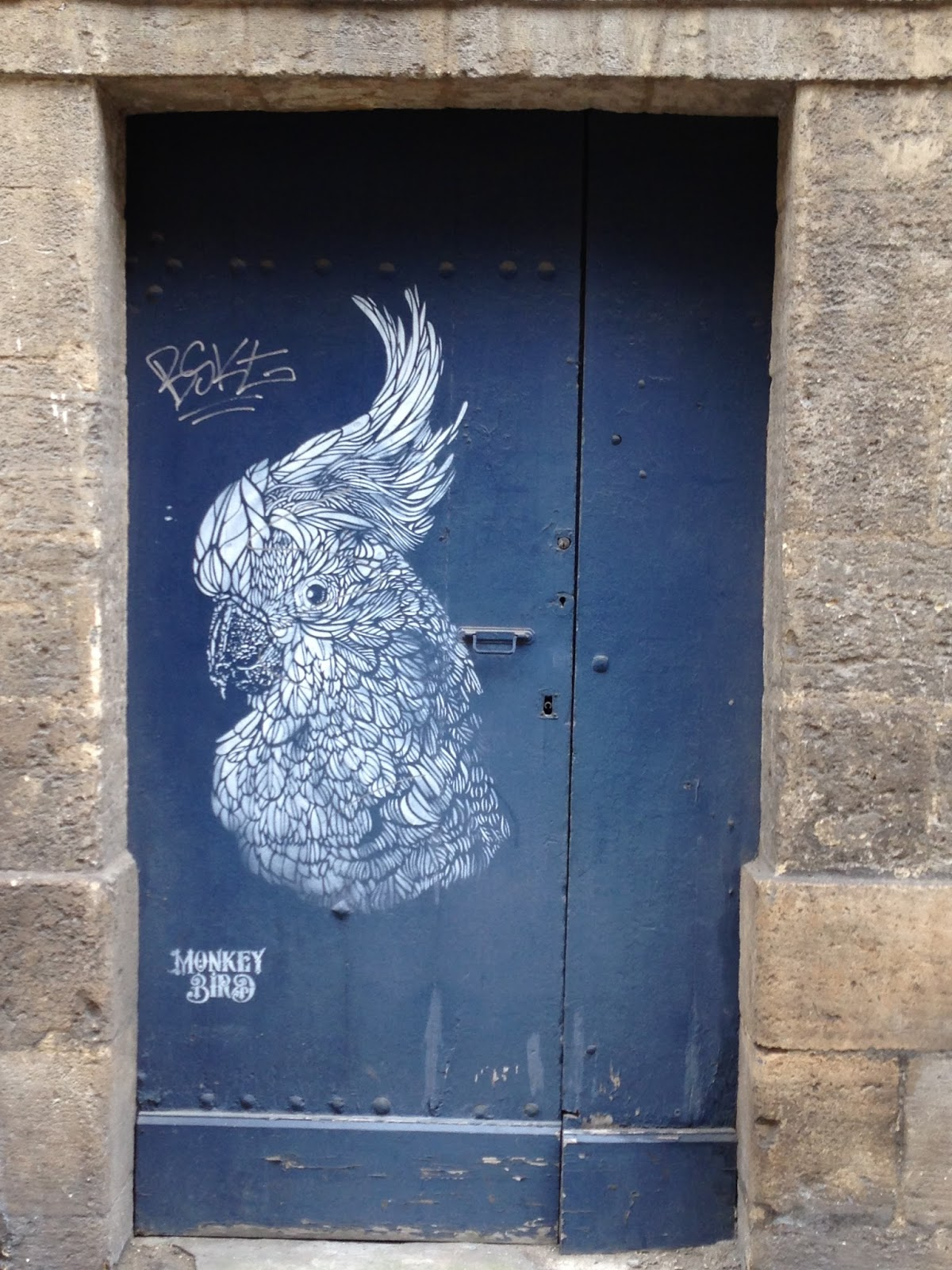 Bordeaux Street Art Monkey Bird