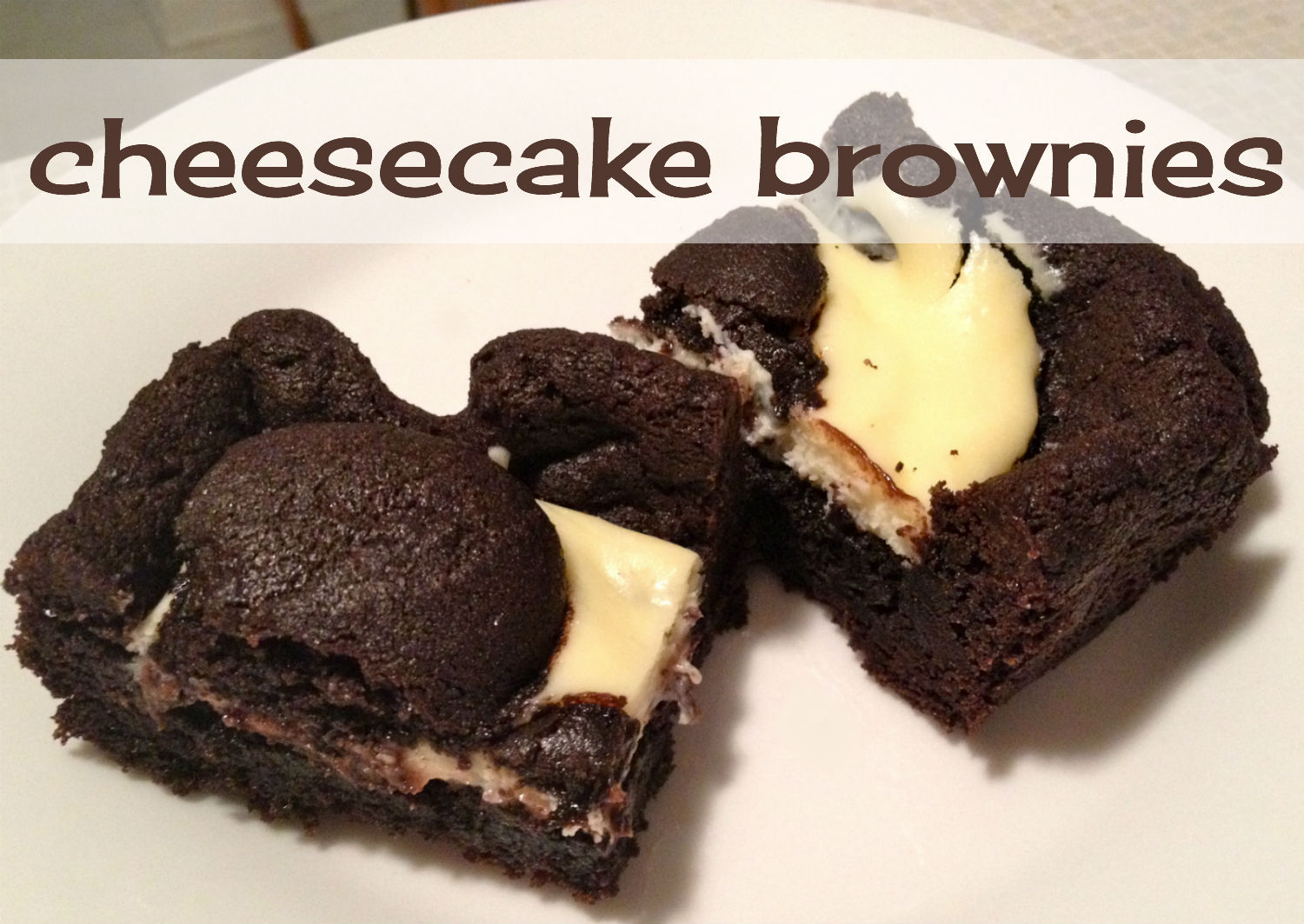 Heather... from Scratch: My Cheesecake Brownies