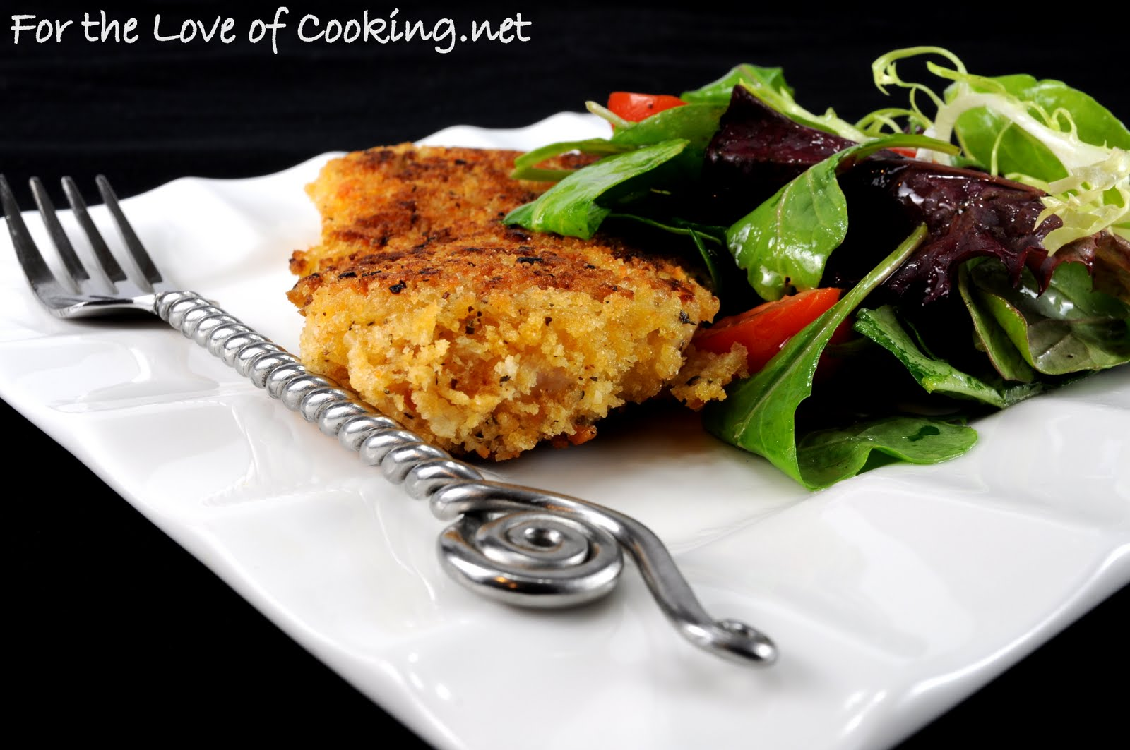 Chicken Milanese with Spring Greens | For the Love of Cooking