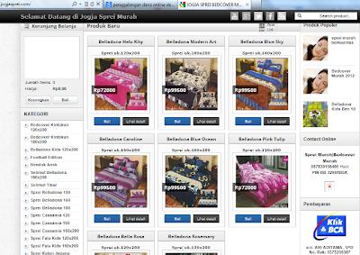 Belanja Online sprei murah eceran murah dan aman