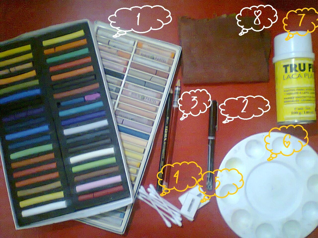 Tsu chan tutorial para dibujos con la tecnica pastel seco for Fijador de pintura