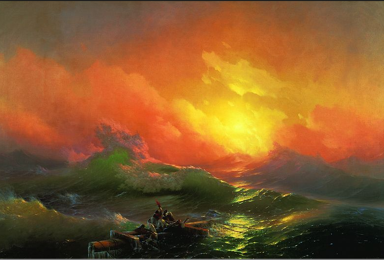 "Ivan Aivazosky'nin ""The Ninth Wave"" eseri"