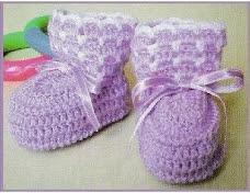 Escarpines de Bebé a Crochet