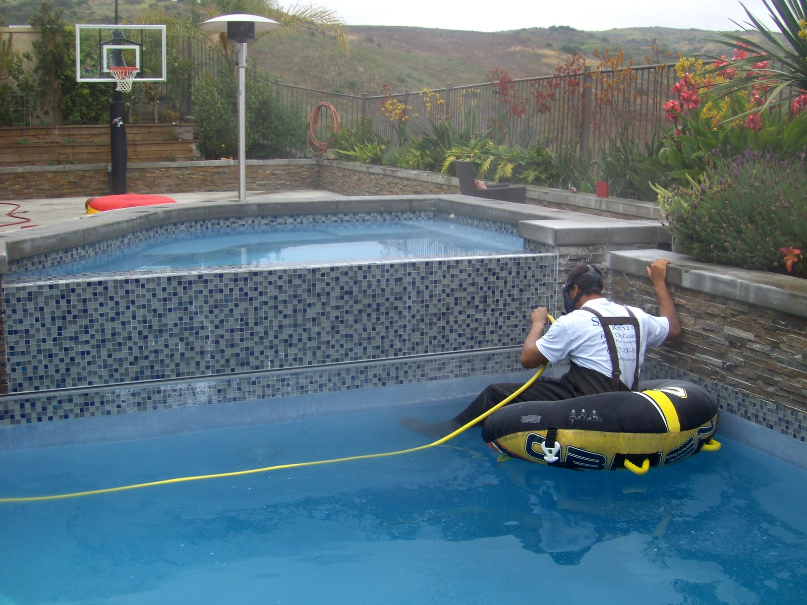 Pool tile cleaning equipment tile design ideas for Swimming pool demolition los angeles