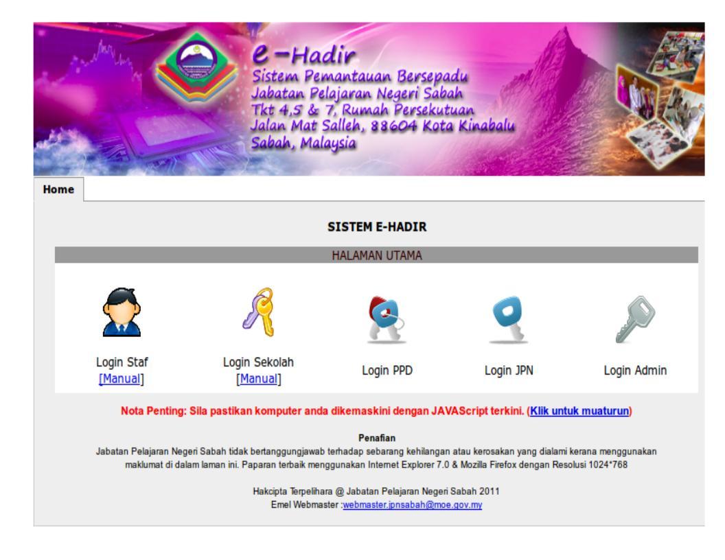 Sistem ini boleh di akses secara talian online di pautan (klik disini)