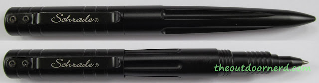 Schrade SCPENBK Self Defense Pen: Top Split View