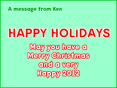 Merry Christmas, from Ken