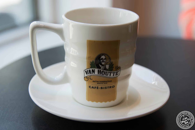 Image of Espresso cup at Van Houtte coffee in Montreal, Canada