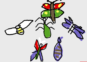 Dibuja tus insectos voladores