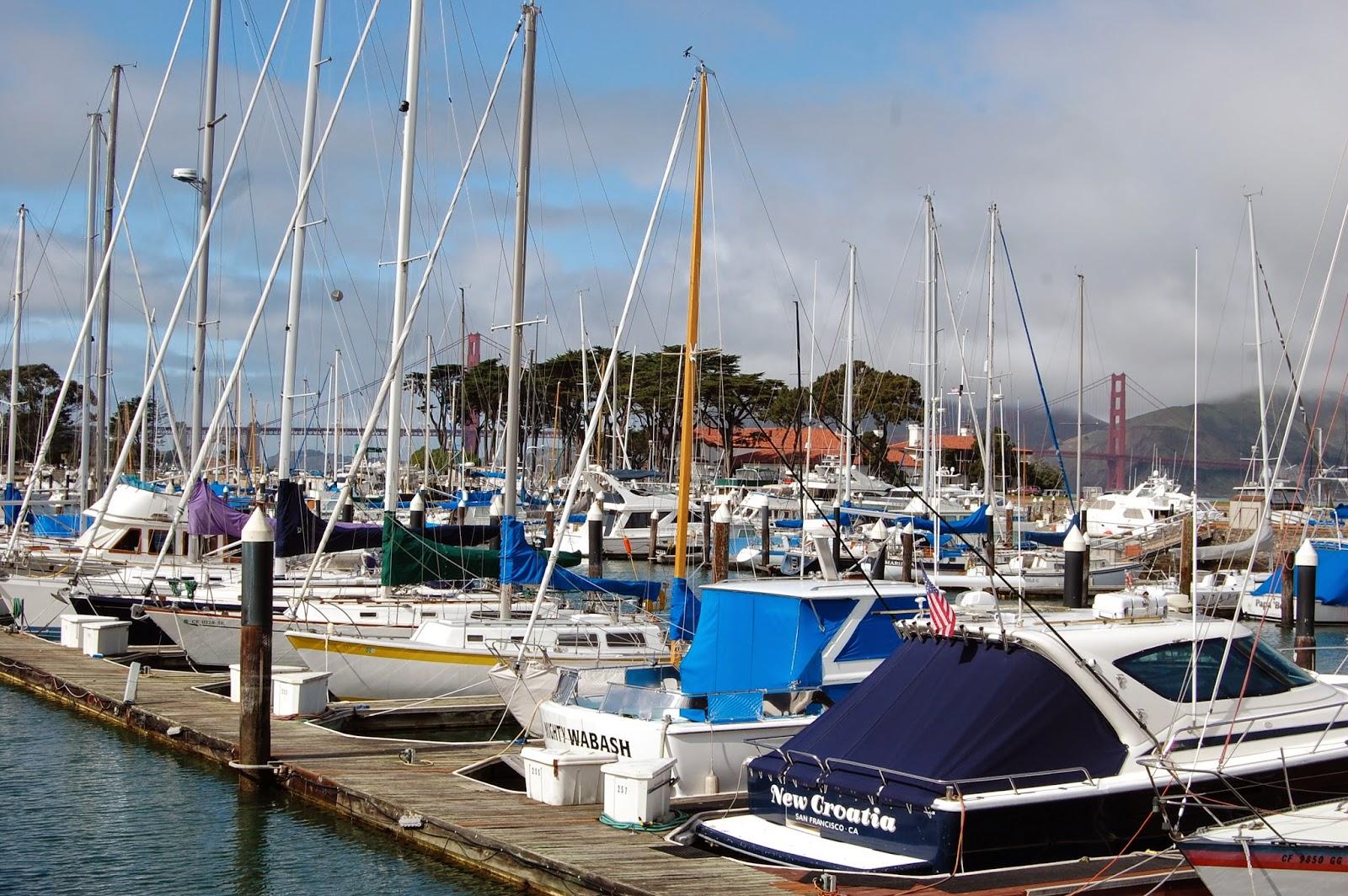 Marina de San Francisco, près du Golden Gate Bridge