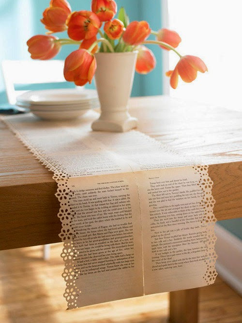 DIY book table runner