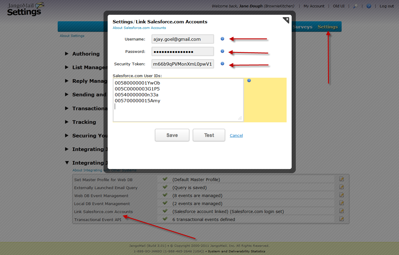 New feature: Store your Salesforce login credentials with JangoMail ...