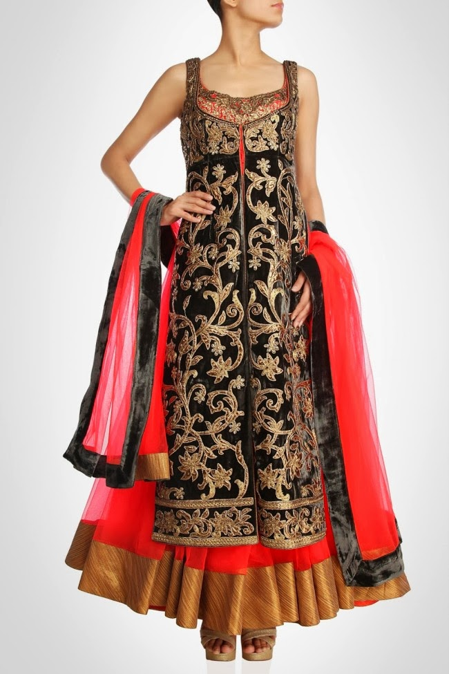 Latest Anarkali Fancy Frocks for Girls 2014