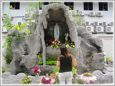 Nov 10 2015 - grotto where the statue of Our Lady of Fatima (Virgin Mary) is placed