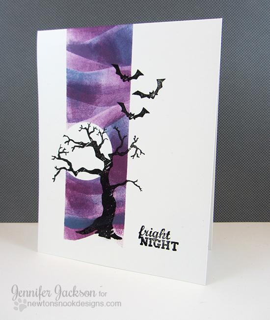 One Layer Fright Night Halloween Card by Jennifer Jackson | Spooky Street Stamp Set | Newton's Nook Designs
