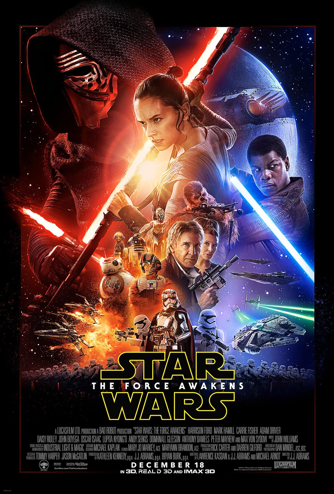 The Force Awakens cast and crew list on IMDB