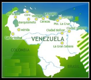 Mapa de VENEZUELA (mapa pequeño)