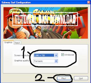 Atur Screen Resolution, 800x600 atau berapa dan di Windowed atau