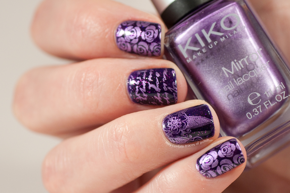 Gel nail art with Madam Glam Purple Sky - May contain traces of polish