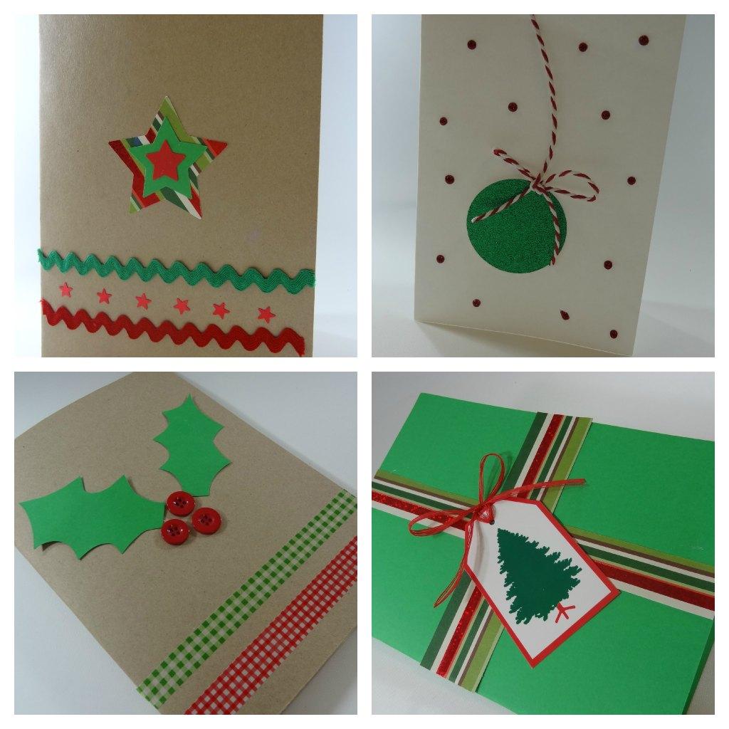 Celebra con ana compartiendo experiencias creativas - Tarjeta navidad manualidades ...