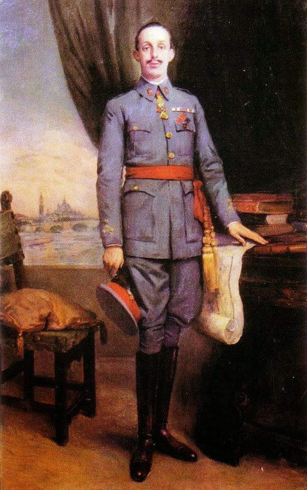 Alfonso XIII con uniforme de la academia general Militar, Alfonso XIII retratado, Retratos Institucionales, Retrato Institucional, Retratista Institucional, Galería de Retratos Institucionales