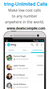 Tring(beta) Android App - Unlimited International/Local Calls
