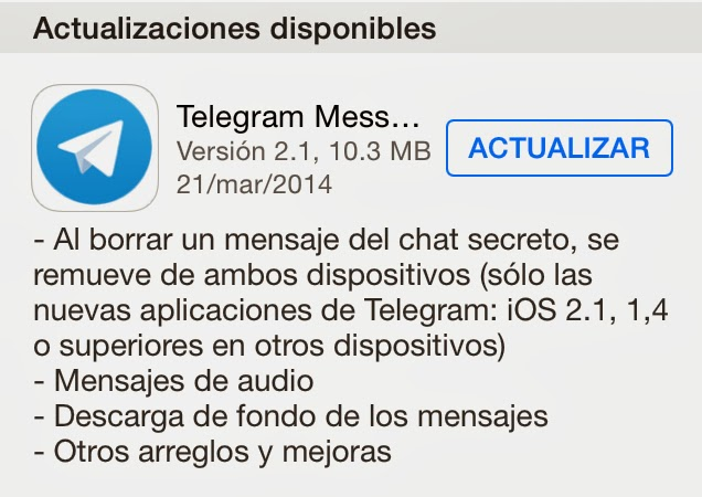 Telegram messenger no se rinde y sigue mejorando su aplicación