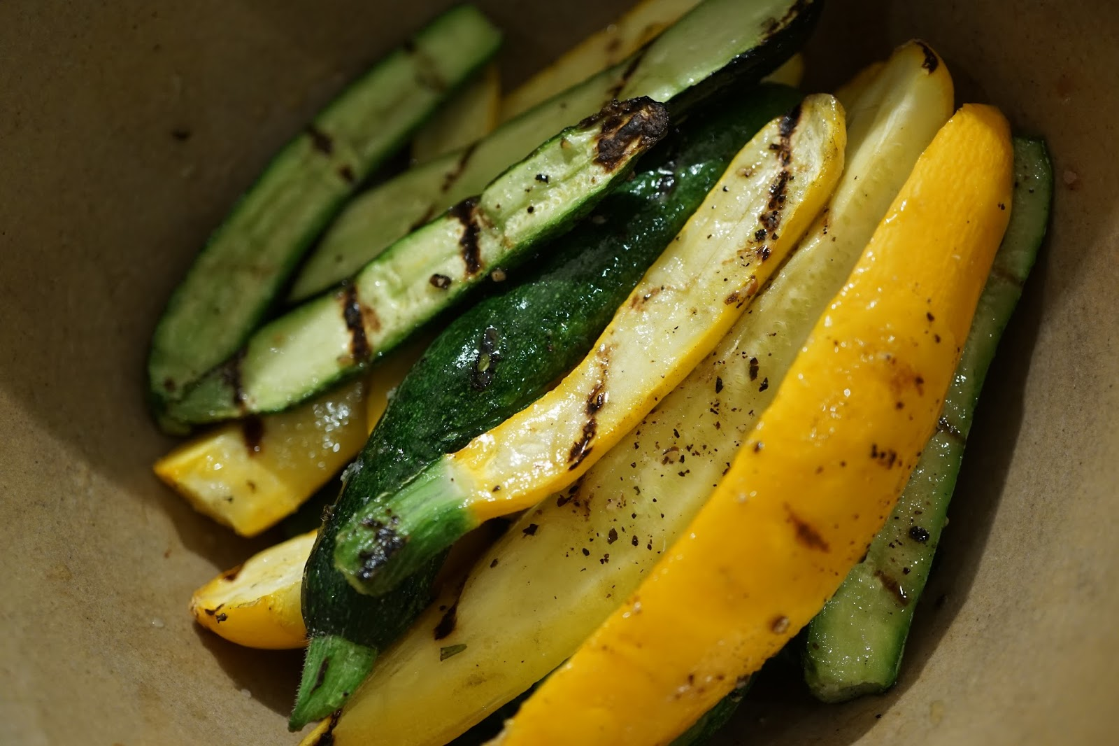 Baby zucchinis are delicious lightly grilled and served with shaved ...