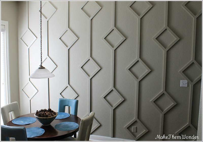 Make them wonder wall treatment reveal phase 1 - Cool wall treatments ...