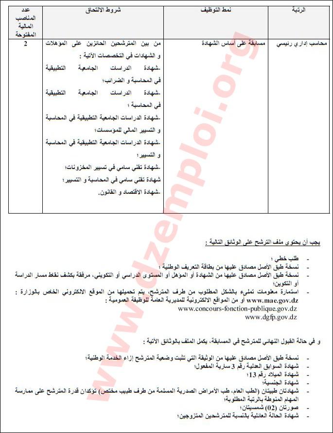 إعلان توظيف في وزارة الشؤون الخارجية 02