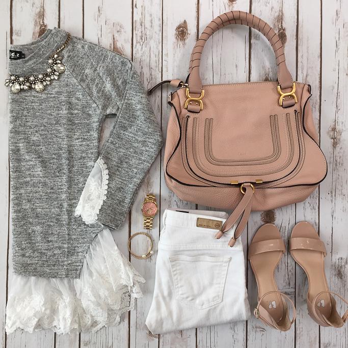 Chloe Marcie Bag Grey